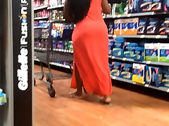 Big Black Butt Milf in Red Dress