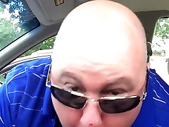 Sucking a big black cock early morning in the car part 1