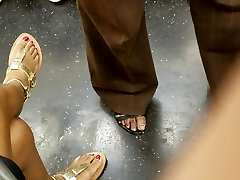 Candid ebony feet with red toes pt 2