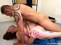 Teen BBW Busty Emma Caught Sucking Dick in Bank Vault