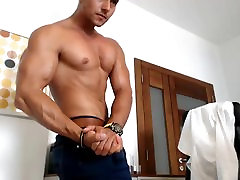 Hot muscle men in office ....