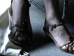 Friend&039;s feet in sandals 13