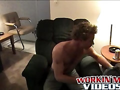 Sexy stud David knows how to satisfy himself in his house