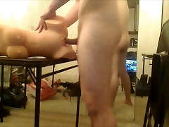 Horny white pussy ride 4 asian cock!