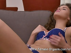19 yo Hottie in Sexy Lingerie Bates to Real Orgasm