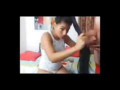 Latina Hairjob, Long Hair, Hair