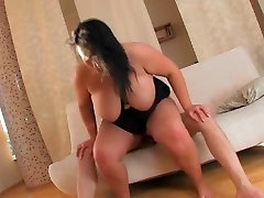 hot fat brunette girl getting fucked and cummed