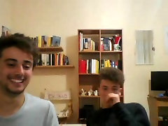 Italian Cute Shy Friends Show Their Hot Round Butts On Cam