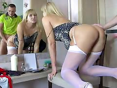hot russian mature in sexy pantyhose gets fucked hard