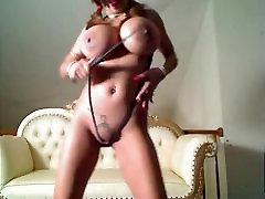 Busty Asian Dancing & Stripping