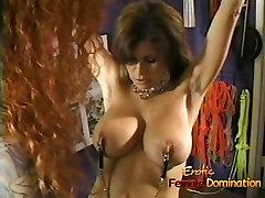 Beautiful brunette looker enjoys having some kinky BDSM fun