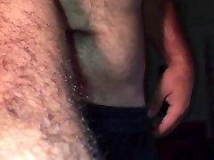 Naked amateur bear showing dick and body