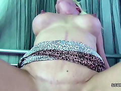 Hot German MILF Seduce Step-Son to Fuck her When Alone home