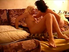 Luscious mommy with big boobs having fun