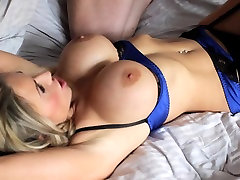 Blonde Stunner gets a nice thick cock between the tits