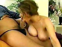 Busty retro lingerie MILF