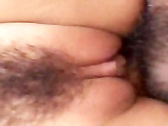 He fills her asian pussy up nicely with his hard on