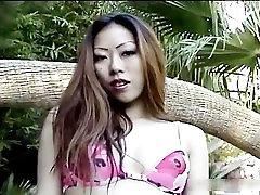 Horny asian babe sucking cock part3
