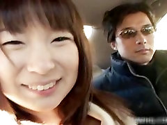 Busty asian having fun in a car part6