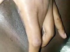 Sweet Pussy Ebony Fucks With Homemade Dildo When Im Gone