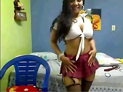 Columbian Bimbo on YourWishCams.Com Showing Her Big Boobs and Ass on Cam