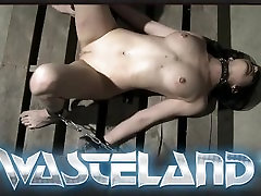 Brunette slave tied with rope gets orgasms before sucking Masters cock