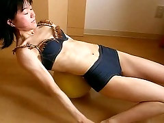 Asian fitness girl abs