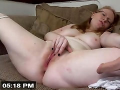 Nerdy Girl With Glasses Squirts On Webcam