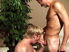 Hot straight guys have their first gay scene together