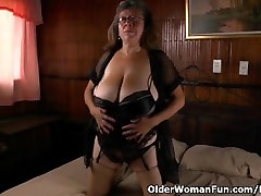 Granny Brenda fucks herself