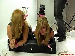 Pandora & Dakota tickled in boots