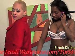 Gogo Fukme Dominates Two Lesbian Slaves