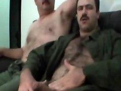 Hairy Daddy Milked Handjob & Cum