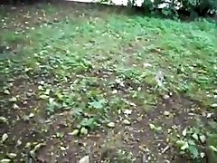 Cute girl masturbate and squirt in the garden