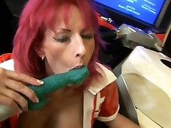 mature readhead masturbating