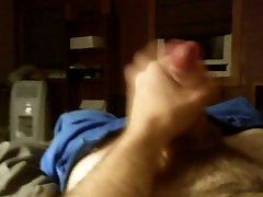 Built gay otter jerking off and cumming
