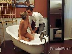 Mistress bathtub massage