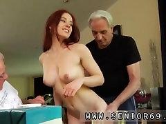 Big tit blonde lesbian threesome Minnie Manga eats breakfast with John