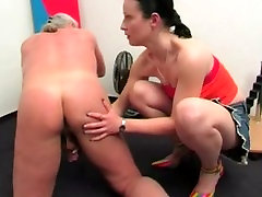 Mature german Rimming & Milking Like A Cow Her Dominated Old Man Small Cock