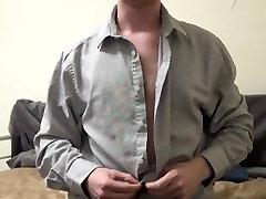 Horny Amateur Strips And Uses A Cock Ring - JohnnyIzFine