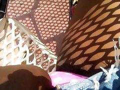 Hairy ebony public upskirt vlog
