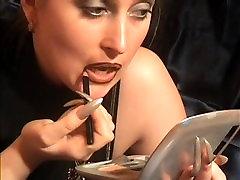 lipstick smearing lesbian kiss
