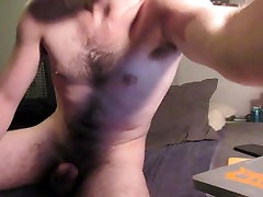 HUGE Cumshot on Young Hairy Chest