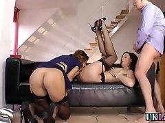 Mature brit spunks cock