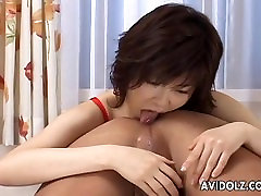 Asian freak loves to rim the ass and jerk the cock
