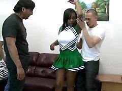 big titty ebony teenage college cheerleader gangbang with kelly cummins