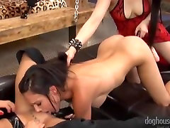 Torrid Lesbian Threesome with Strapon and Toys - Yumi Lee & Juicy Pearl