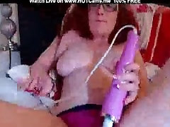 Redhead With Glasses Squirt In Her Pink Panty
