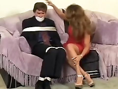 Man tied up by Hot Woman