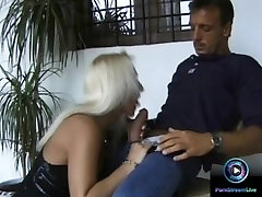 Sexy pinup with high libido got a lot of jizz on her tits